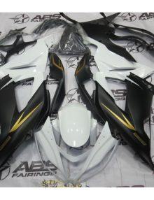 ABS Fairings Black, White & Gold - 2013 ZX6R