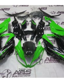 ABS Fairings OEM Style Green & Black - 2013 ZX6R