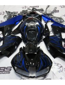 ABS Fairings Black w/Blue Flames - 13-14' CBR600RR