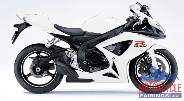 abs fairings all white 24pc fairing set suzuki gsxr 600 750 2006 2007 motorcycle fairing. Black Bedroom Furniture Sets. Home Design Ideas