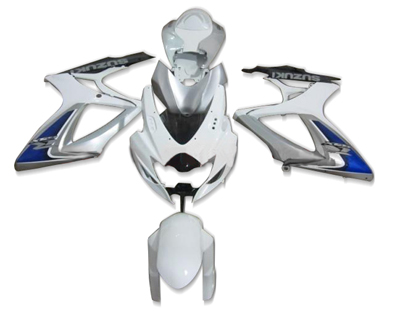 ZXMT White/Silver ABS Fairing Set 21pc - Suzuki GSXR600/750 2006-2007