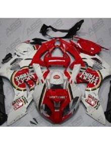 ABS Fairings Red Lucky Strike Edition - 2009-14' BMW S1000RR