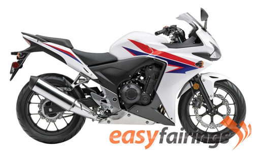 Easy Fairings White/Red/Blue Fairing Set - Honda CBR500R 2013