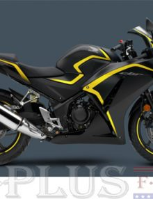 Fairing Solution Black/Yellow Fairing Set - Honda CBR 500R 2013-2014