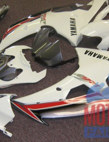 White & Red ABS 24pc Fairing Set - Yamaha R6 2008-2012