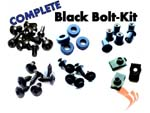 Easy Fairings 2007-2012 Honda CBR600RR Black Fairing Bolts-CBK Complete Kit
