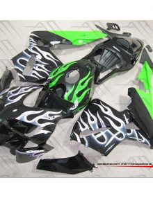 American Motorworks White And Green Flames 03-04 CBR600RR