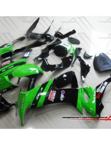 American Motorworks Black And Green Kick Energy 08-10 ZX-10R