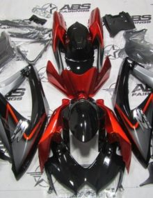 black and orange gsxr 750 fairing kit 2011-2014