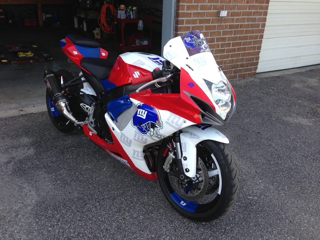 ABS Fairings NY Giants Theme Fairing Set - 2003 Kawasaki 636 ...